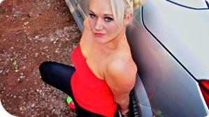 Blonde Milf dogging - Tanya Lixx   Dogging Porn Stars