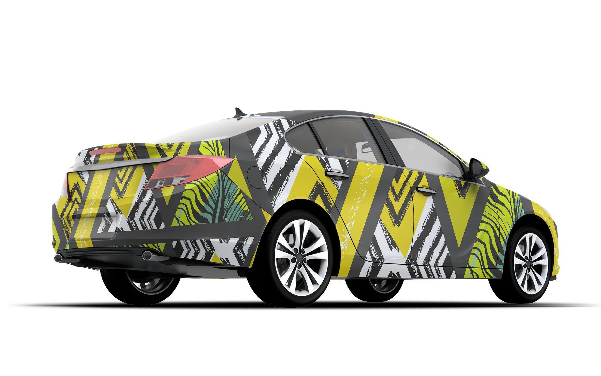 Free Download Car Wrap Design Mockup DesignMockup
