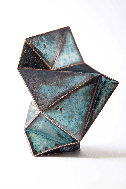 Brooch by Bongsang Cho - Stellar Brooch 1 - Copper, Enamel, Laser welding & Enameling