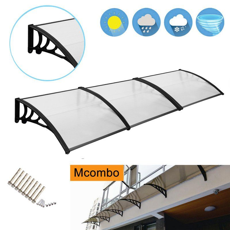 10 Ft W X 3 Ft D Plastic Standard Door Awning In 2020 Window Awnings Door Awnings Patio Awning