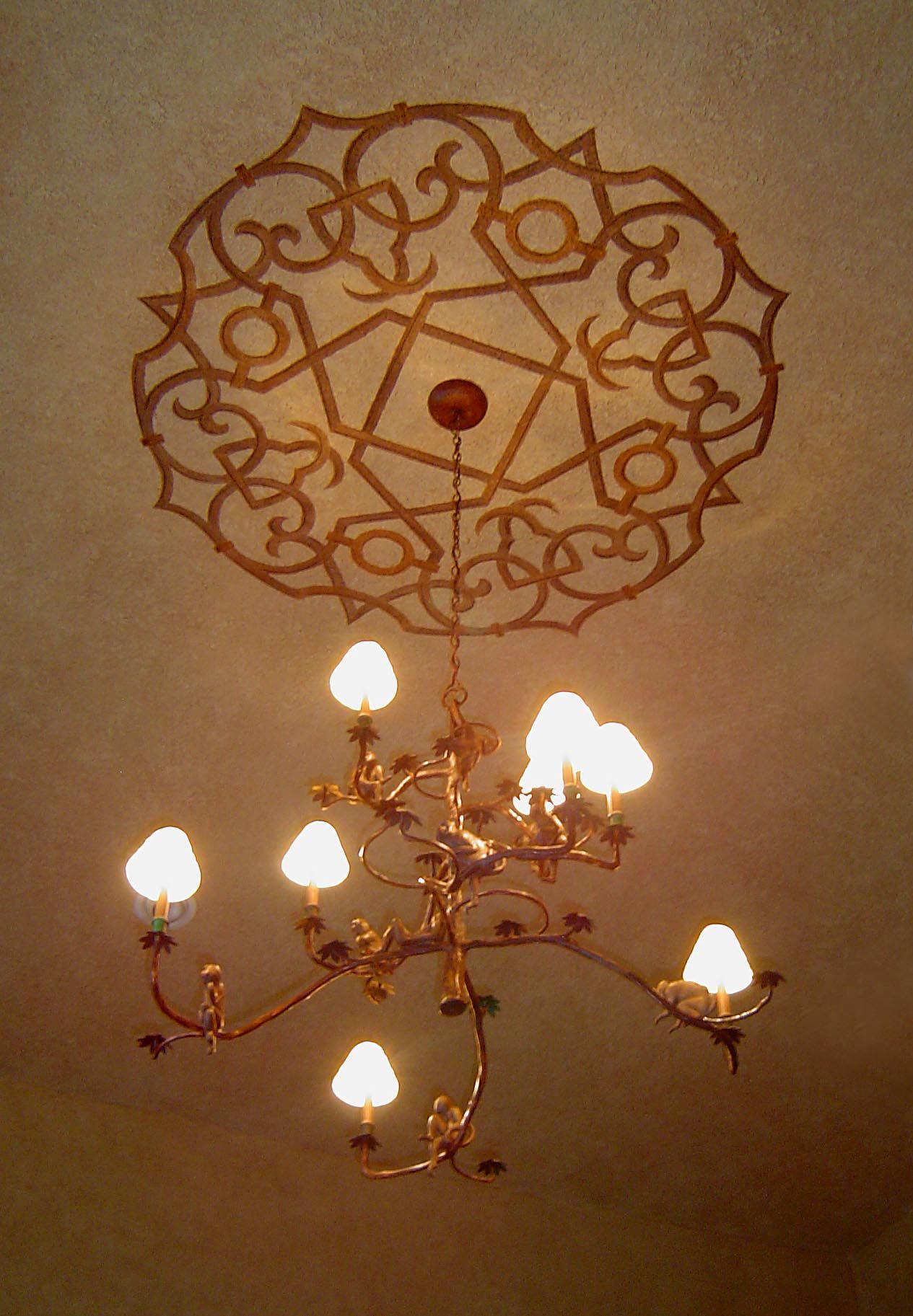 gold medallion ceiling polyurethane custom products painted copper bronze large