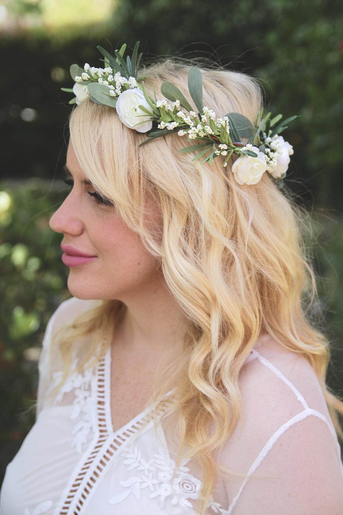 Bridesmaid Simple Flower Crown Peony Flower Crown Flower Crown