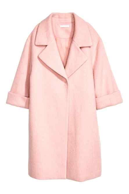 Jas van wolmix | Roze jassen, Jassen, Vrouwen winterjassen