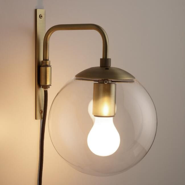 Glass globe wall sconce v1 for the nest pinterest glass globe wall sconce v1 aloadofball Images