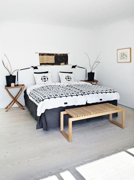 Décoration Style Ethnique Inspiration Scandinave Style Ethnique - Canapé convertible scandinave pour noël deco chambre adulte blanc