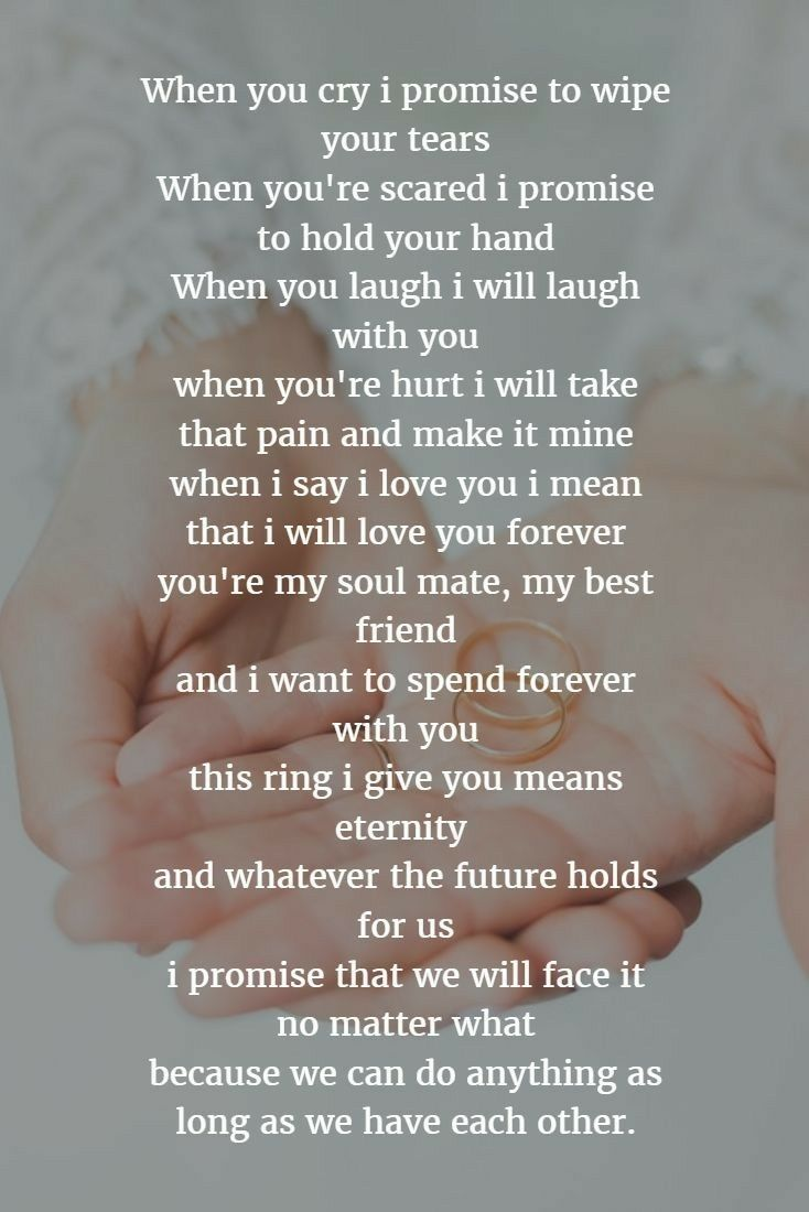 Pin By Colton On Him Vows Quotes Love Poems Wedding Wedding Vows Examples