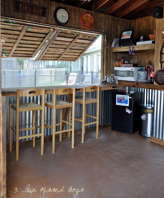 We need new windows anyway just make an outside bar for Garage bar designs