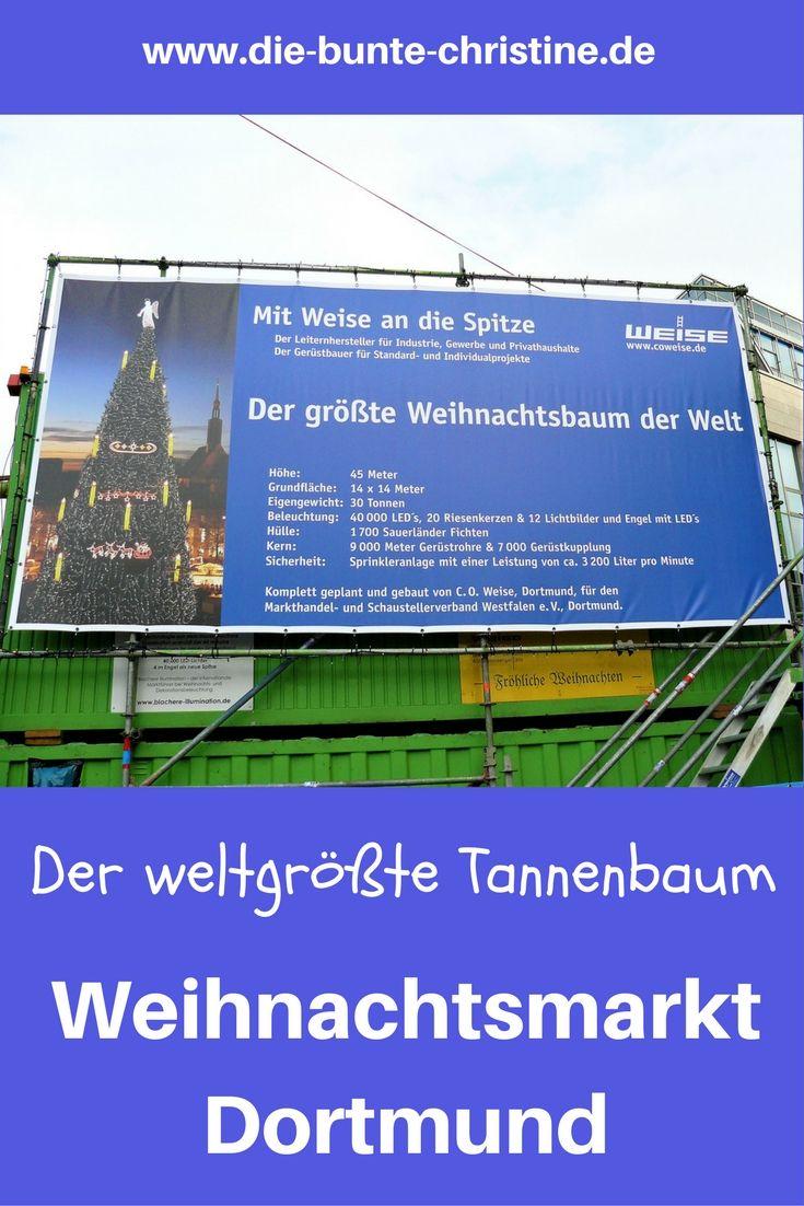 Größter Tannenbaum Deutschlands.Weihnachtsmarkt Dortmund Der Größte Tannenbaum Der Welt Ausflüge