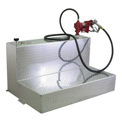 Better Built Steel Transfer Fuel Tank 100 Gallon Rectangular White Model 29224164 Transfer Tanks Tank Diamond Plate
