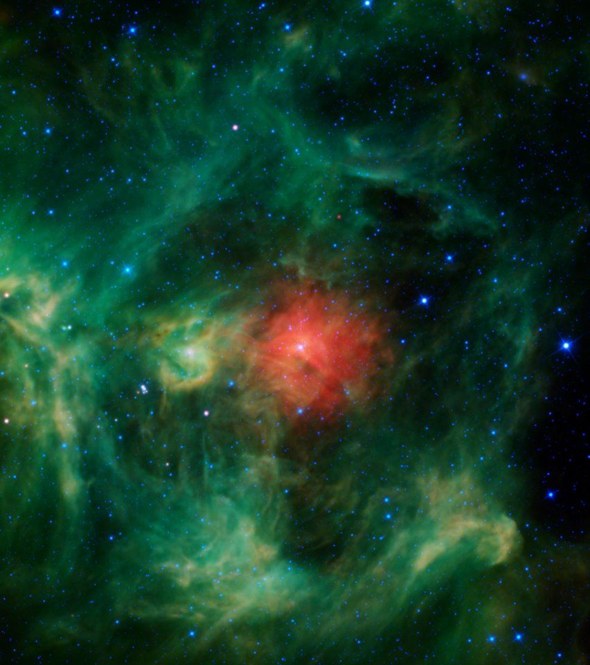 """A Cosmic Christmas Wreath Cosmos """"The Hand of God"""