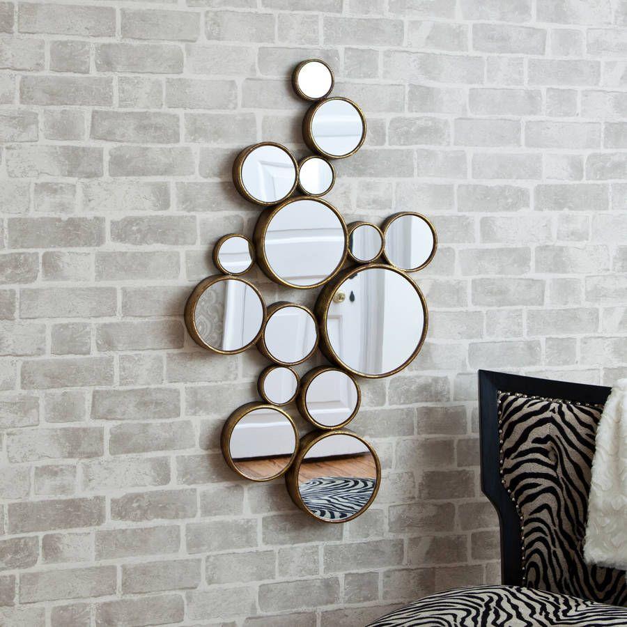 Funky Circles Mirror Circle Mirror Mirror Decor Contemporary