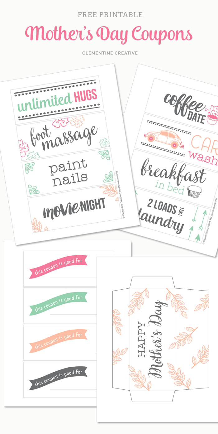 Free Printable Mother S Day Coupons To Make Mom S Day Holidays