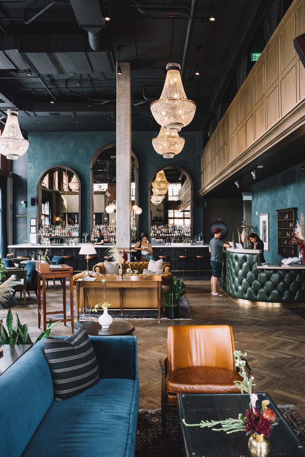 A Long Weekend At Denver S Hottest New Hotel Bar Bar Design Restaurant Hotel Bar Bar Interior Design