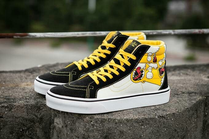 The Simpsons inspired Vans. I need these... Im a big fan of the simpsons so. f16559acf