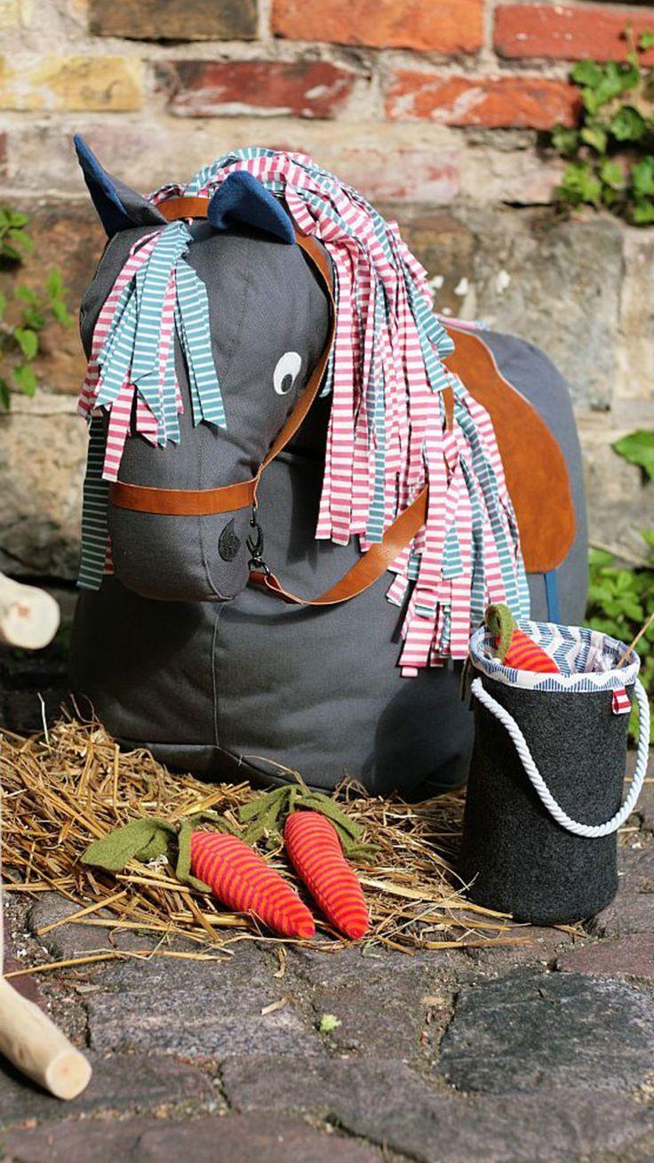 Kostenloses Schnittmuster für einen Pferde-Sitzsack #horsepattern