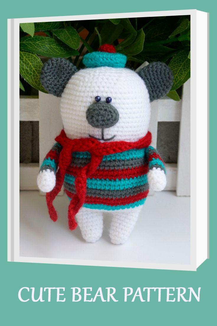 Crochet Bear Pattern - Amigurumi Bear Pattern - Teddy Bear Crochet - Crochet Polar Bear Pattern