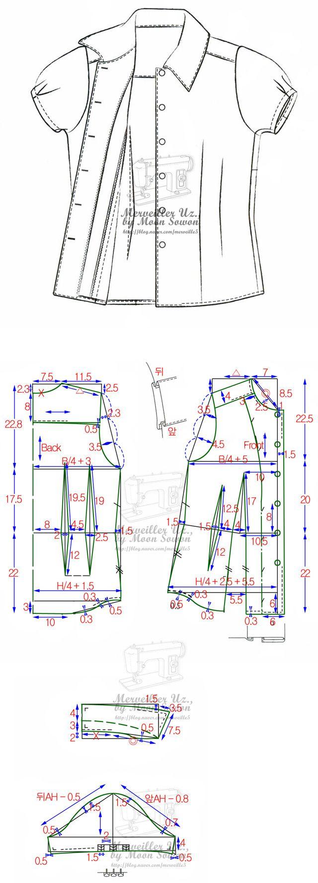 Molde de camisa | vero campos | Costura, Camisa molde y Patrones