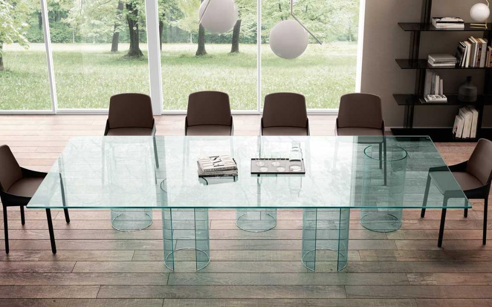 Il tavolo riunioni in vetro Luxor - FIAM Italia | Tavolo ...