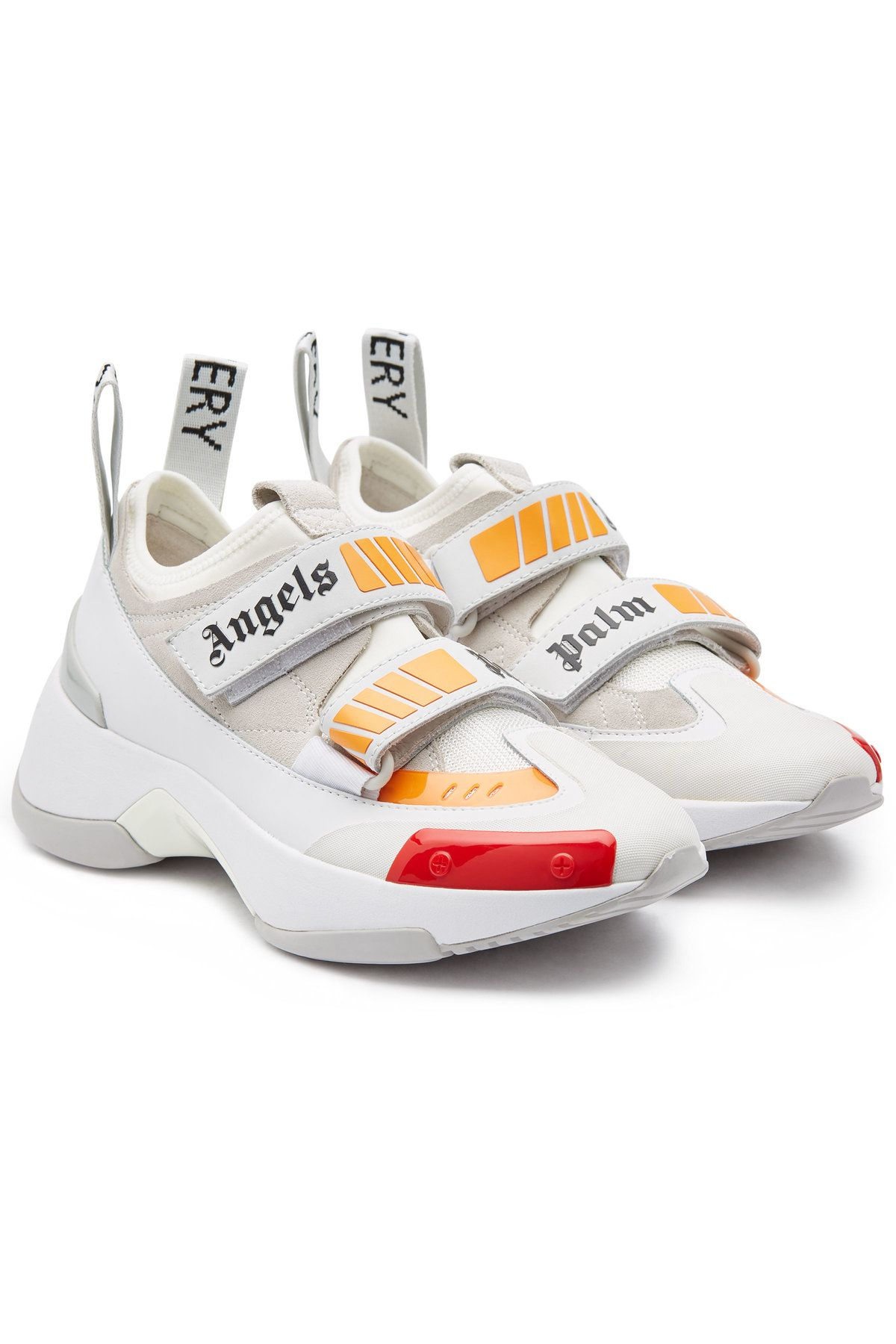 PALM ANGELS RECOVERY SNEAKERS WITH SUEDE AND MESH