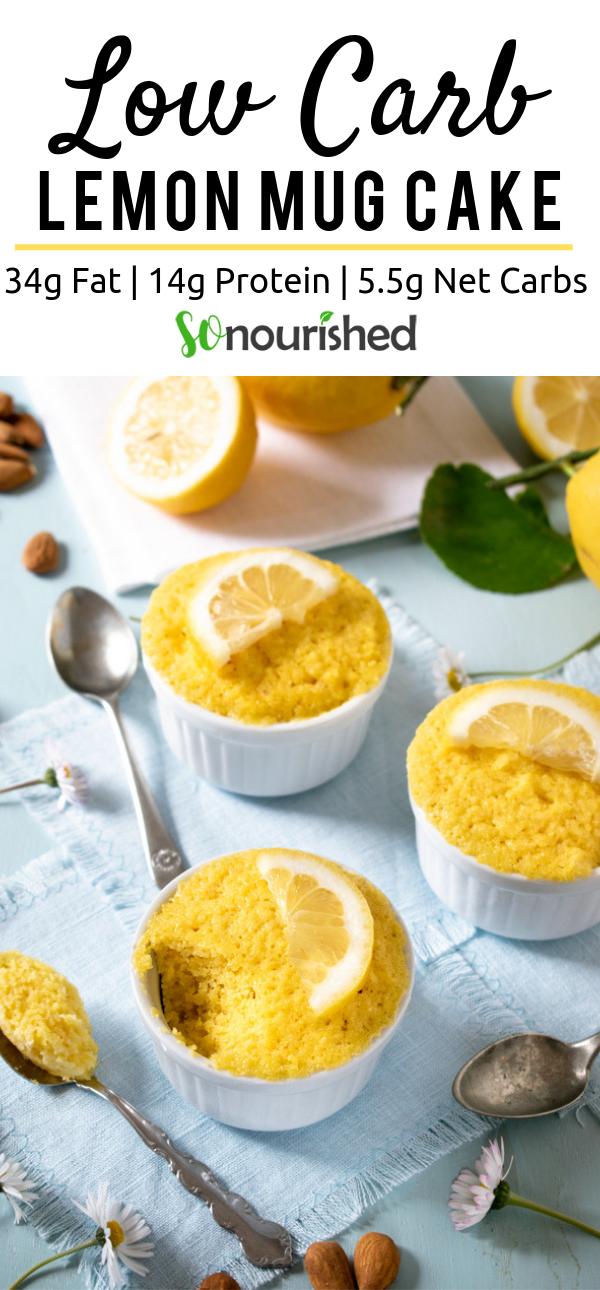 Easy Lemon Mug Cake | Recipe | Low carb recipes dessert ...