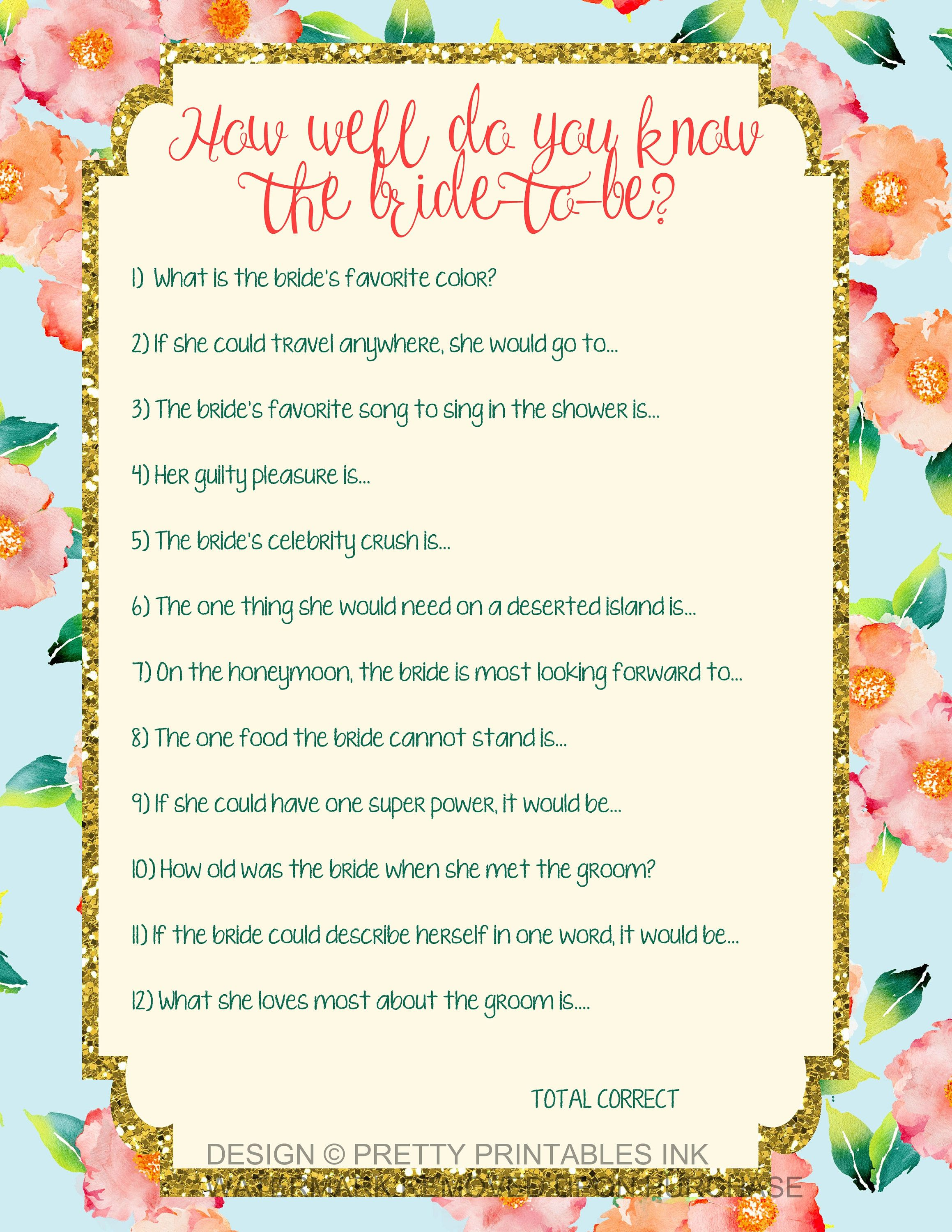 instant download printable bridal shower game available immediately after purchase