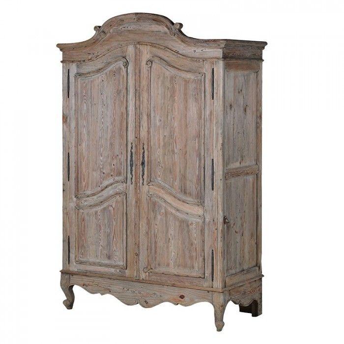 Amaury Old Pine Double Wardrobe Furniture - La Maison Chic Luxury Interiors