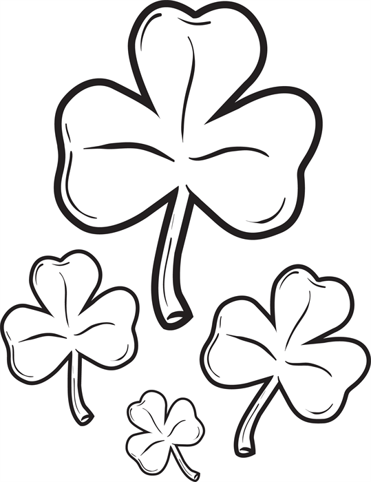 Shamrocks Coloring Page 2 Clip art and Craft