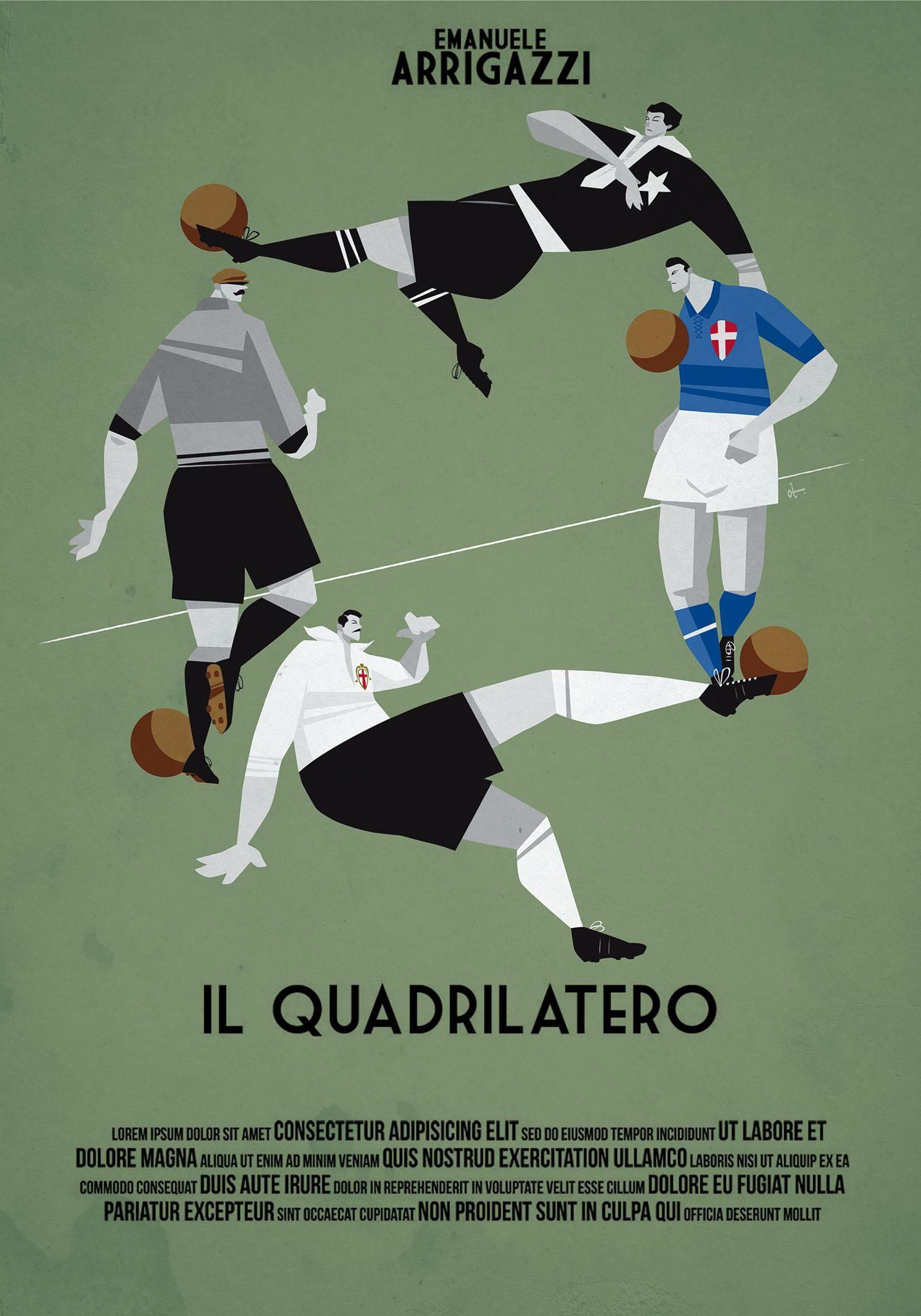 """1° Classificato Contest """"Una Locandina per il Quadrilatero""""  Artwork by Osvaldo Casanova."""