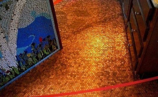Fußboden Mit Münzen ~ Pin von home flooring pros auf penny flooring pinterest