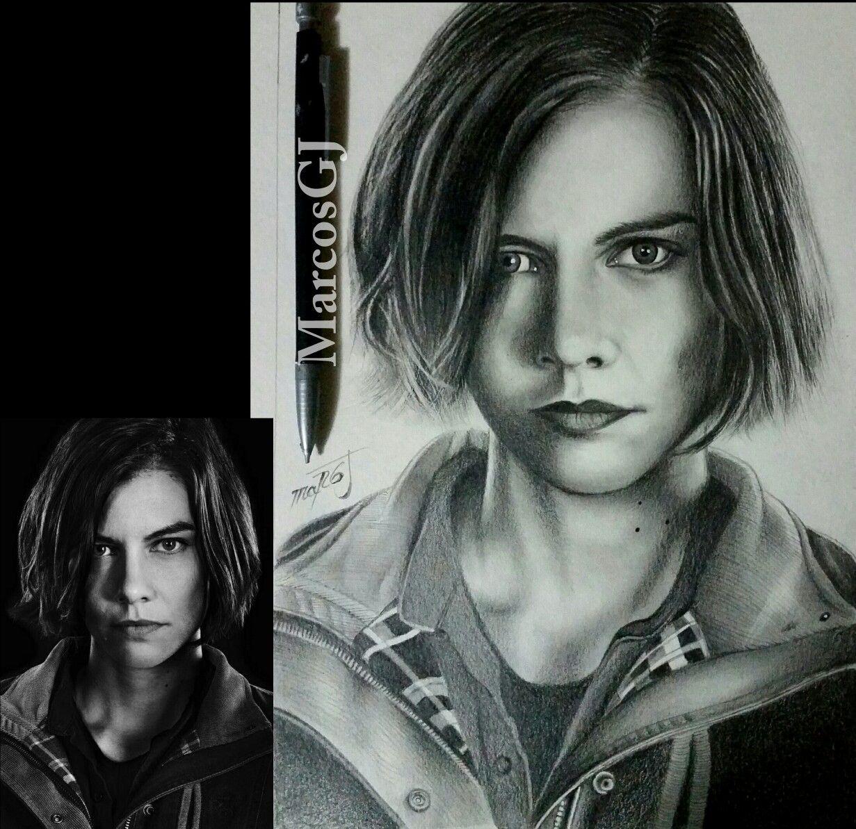 Dibujo A Lapiz Retrato 12 Drawing Pencil Portrait Maggie The Walking Dead Retratos The Walking Dead Walking Dead