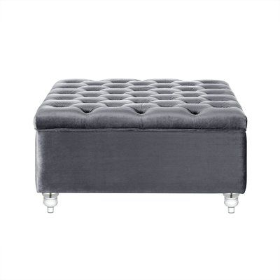 Superbe Bonview Oversized Button Tufted Storage Ottoman Upholstery: Grey From  Wayfair This Velvet Oversized Square Ottoman Adds A Contemporary Yet  Reserved Touch To ...