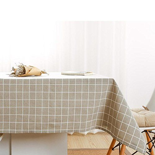 Linens · Cotton Linen Tablecloth Lattice Picnic Table ...