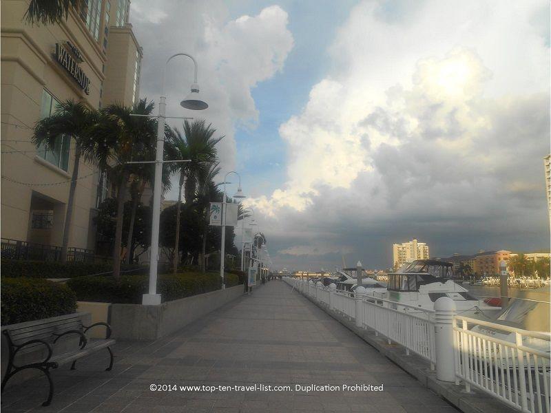 Beautiful river views along the downtown Tampa RiverWalk