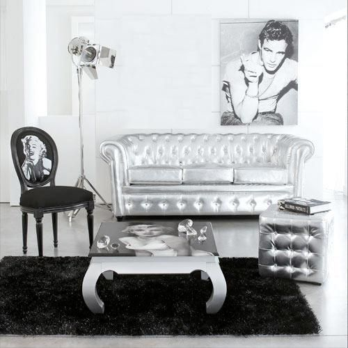 Baroque Silver Chesterfield Sofa By Modani. Who Would Rock It? Hollywood  Movie Black