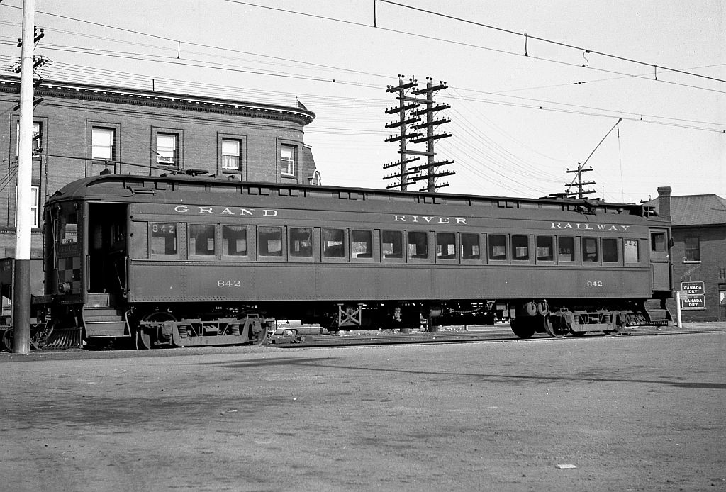 Grand River Railway Car 842 was part of eight steel