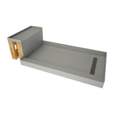 Tile Redi 60 X 42 Single Threshold Shower Base With Bench And