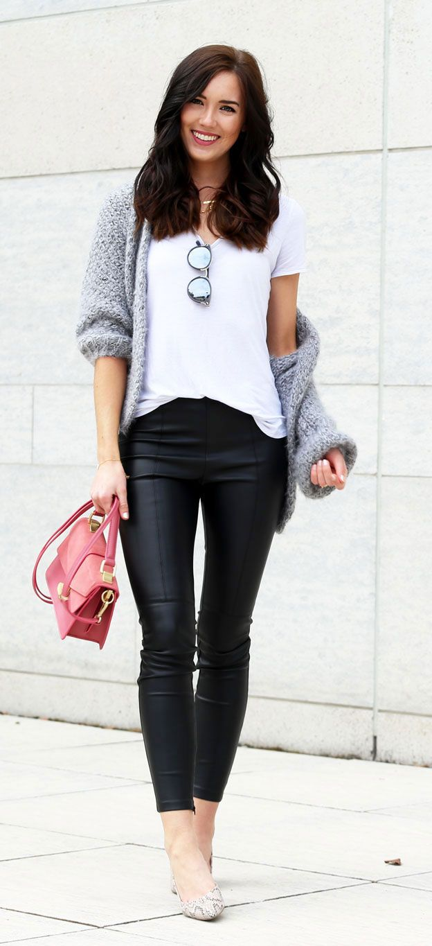Leather trousers and my love story with kitten heels ... - photo#17