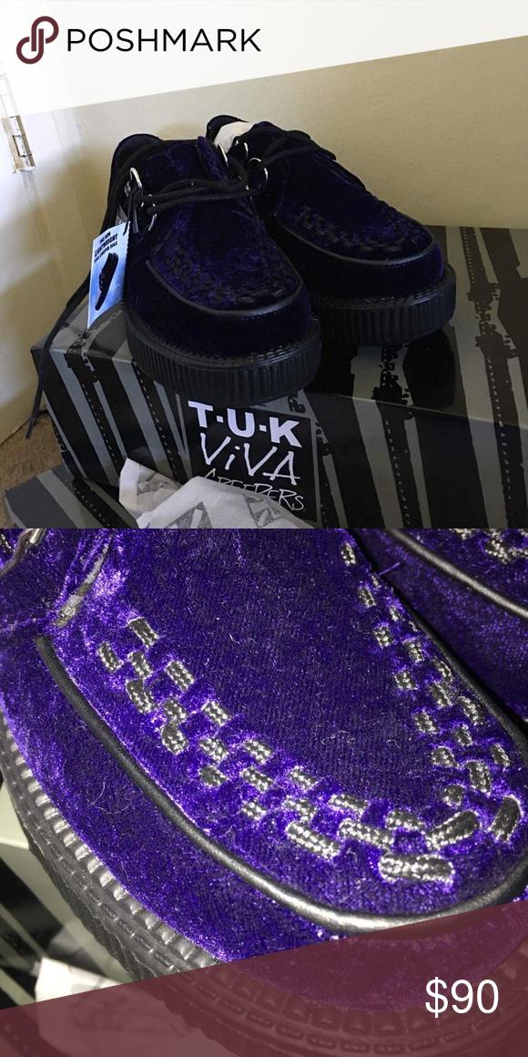 brand new 5b2e1 7f249 Spotted while shopping on Poshmark: Purple velvet TUK mondo ...