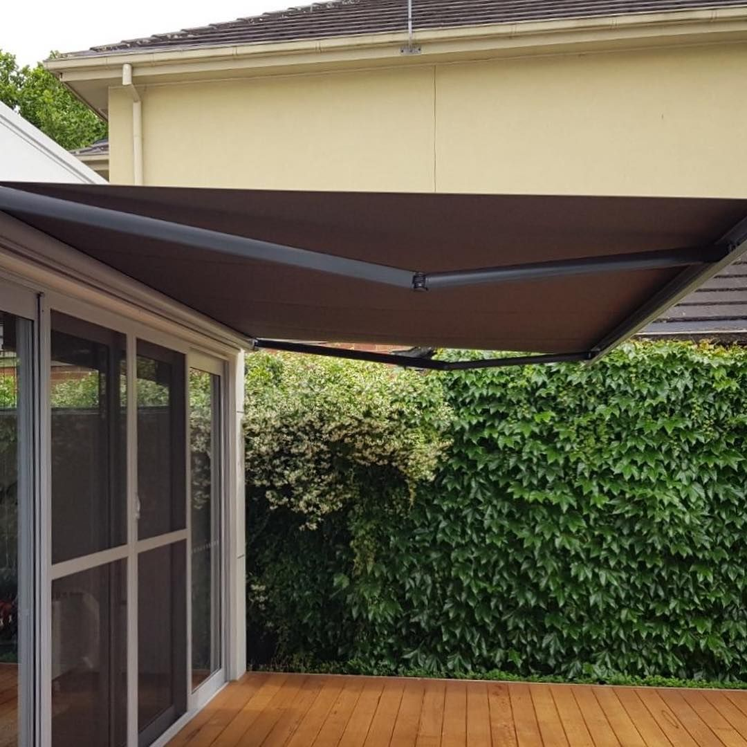 So Much Coverage And So Much Style Folding Arm Awnings For Your Summer Entertaining Area We Custom Make These In Ho Summer Entertaining Awning Outdoor Decor