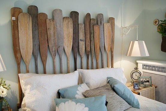 What a great idea for a lake house/river house headboard!