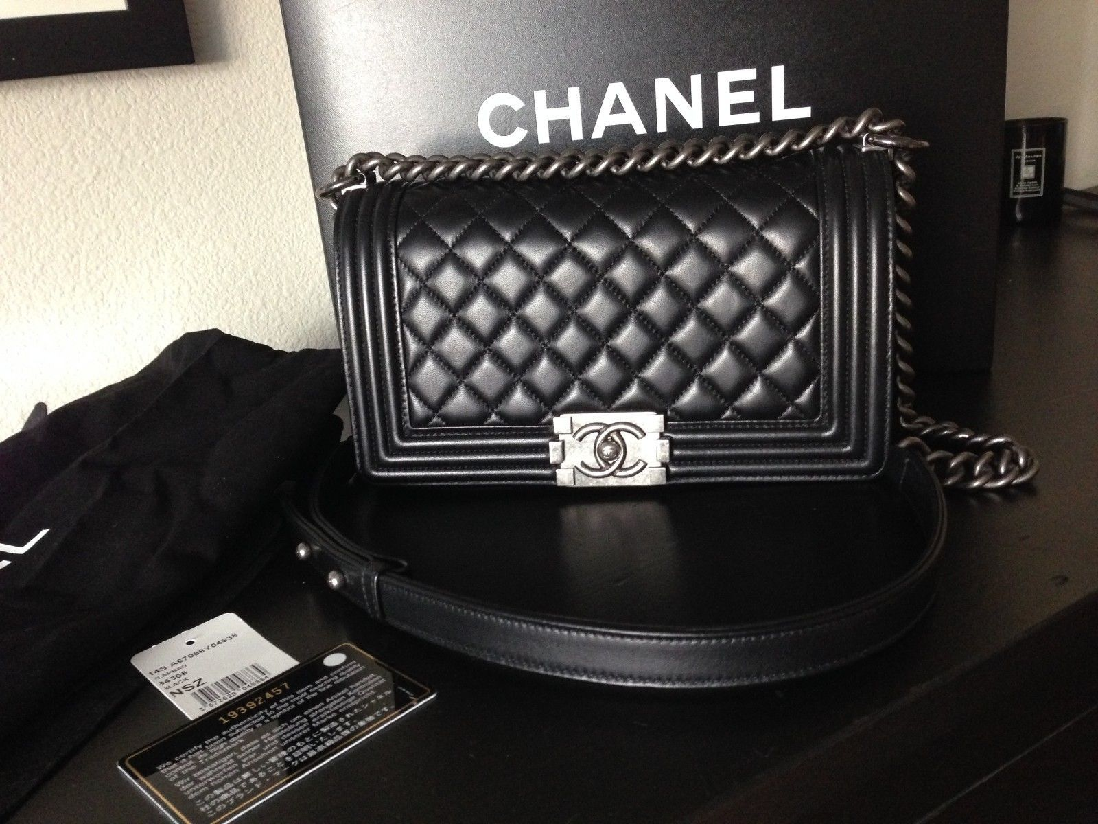 f446e4616d0f On a waitlist for my Chanel LE BOY BAG Medium Black Lambskin with Ruthenium  Hardware (small stitching) B'Day present !!!