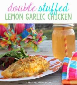 Double Stuffed Lemon Garlic Chicken- YUM!  #FreshTake #shop