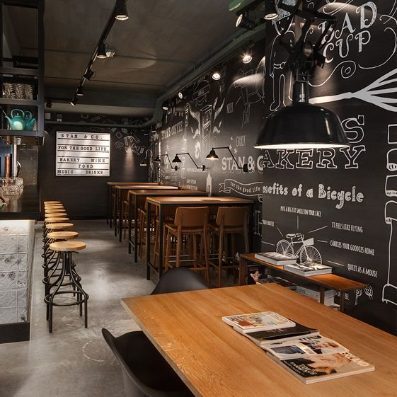 die besten 25 industrie stil restaurant ideen auf pinterest industrial restaurant design. Black Bedroom Furniture Sets. Home Design Ideas