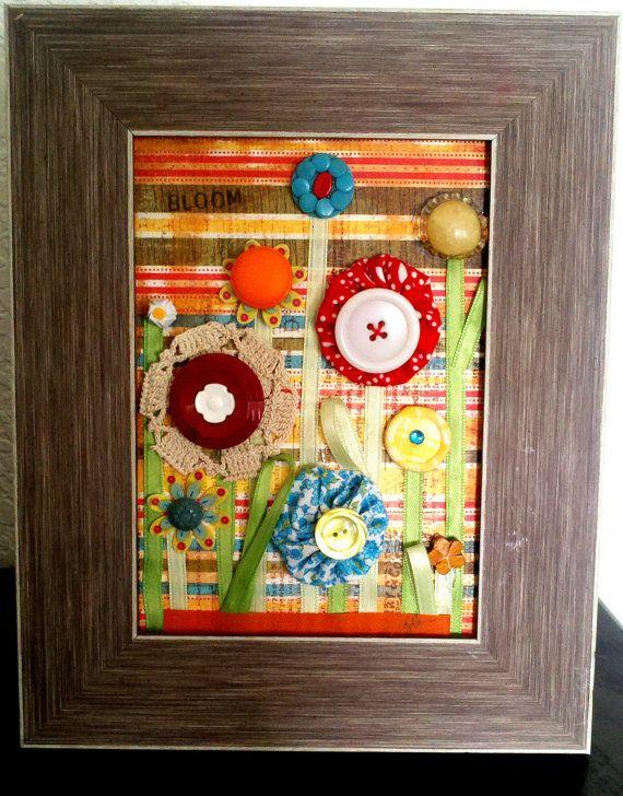 Bright Vintage Mixed Media On Flower By Filthyrichdesigns 45 00 Art Crafts