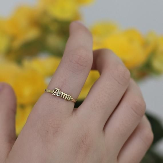 Sterling Silver 925 Birth Ring Old English Year Ring