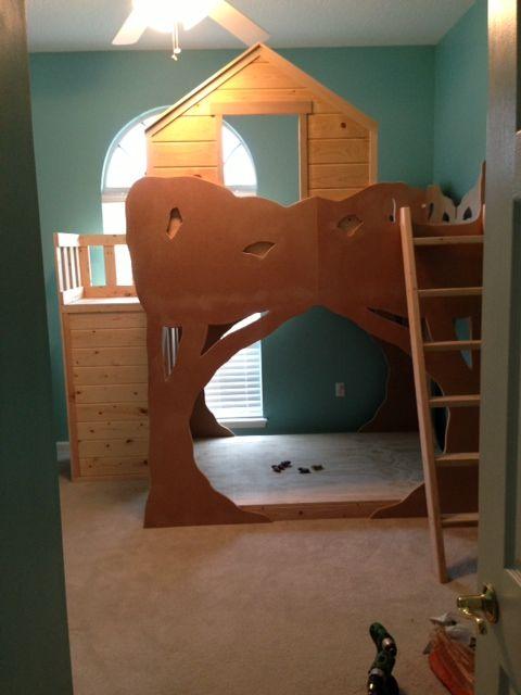 The Treehouse Loft Bed Custom Kids Bedroom Custom Bunk Bed Loft