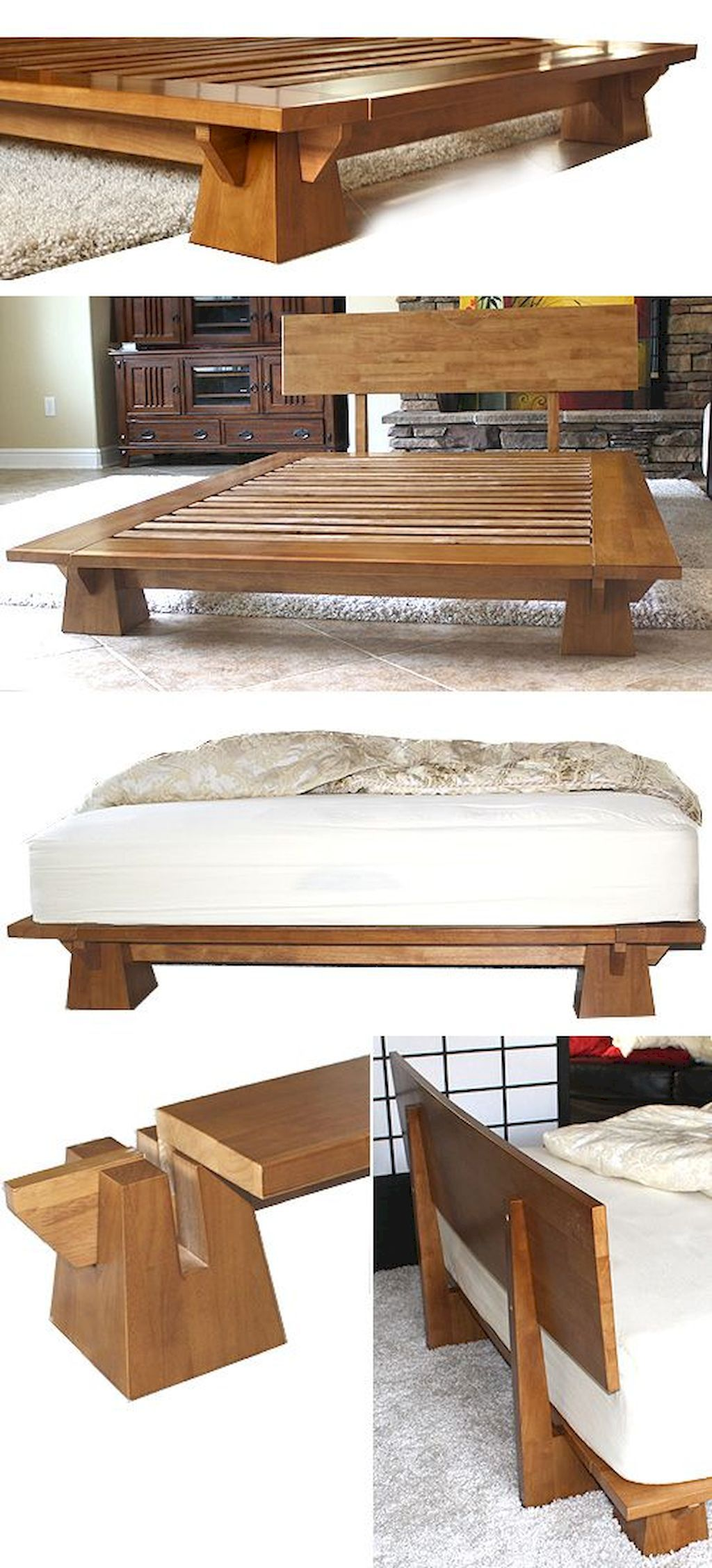 30 Elegant DIY Wooden Platform Bed Design Ideas
