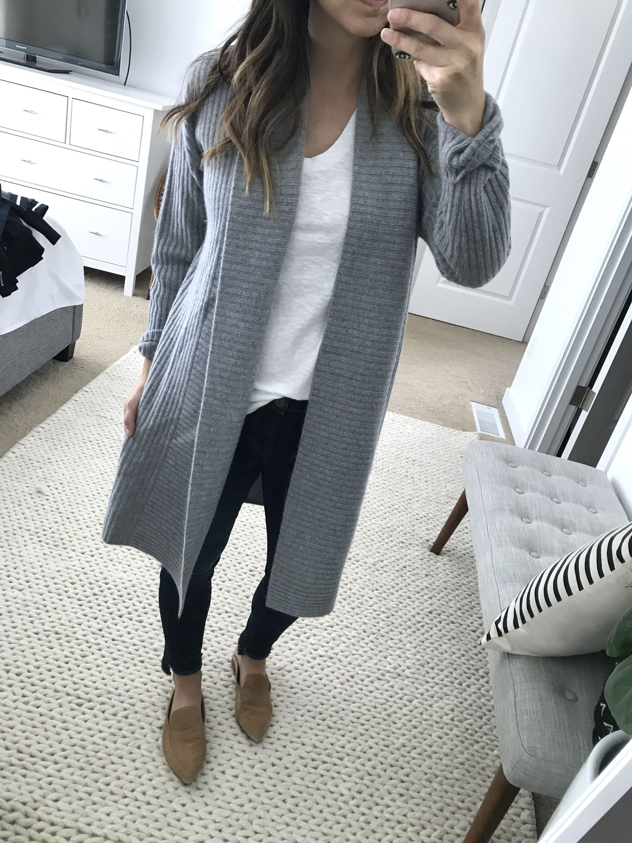 Halogen ribbed cashmere cardigan | What to Wear for Fall ...