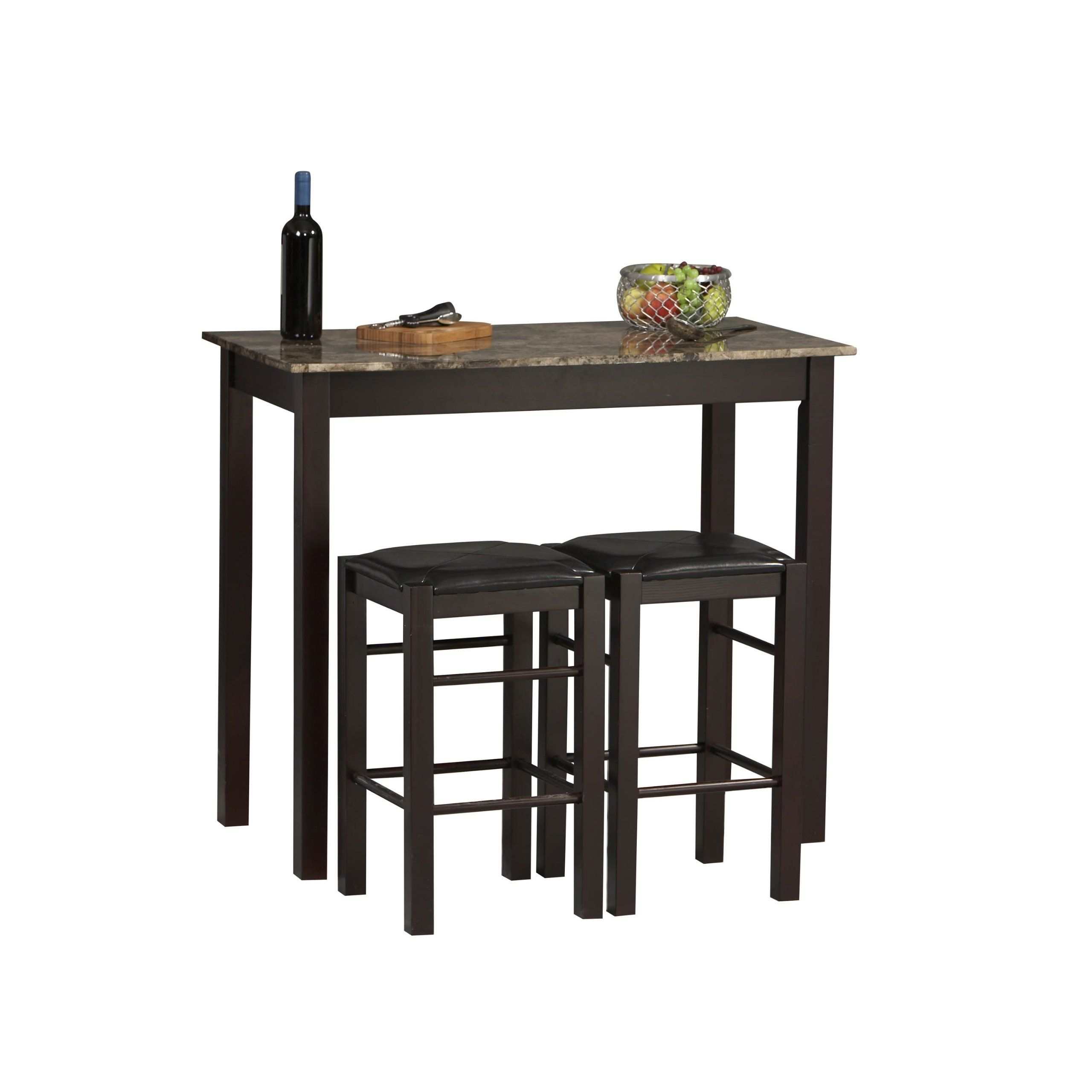 Tavern 3 Pc Counter Height Dining Set - Espresso (Table & 2 Stools ...