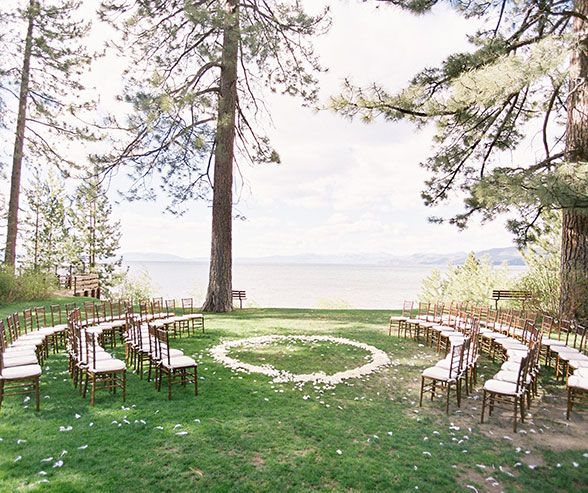 Lake Tahoe Vacation Rentals On The Water: The Couple Held Their Intimate Ceremony By The Water At